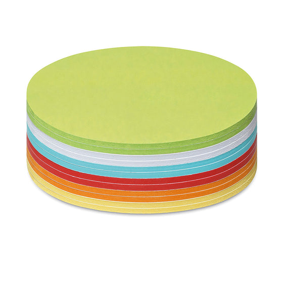 300 Medium Circular Stick-It Cards, assorted colours