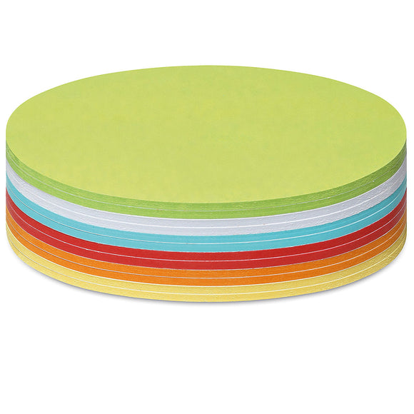 300 Large Circular Stick-It Cards, assorted colours