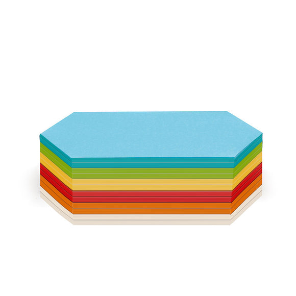 300 Rhombus Stick-It Cards, assorted colours