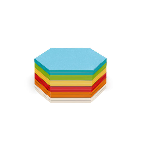 300 Hexagonal Stick-It Cards, assorted colours