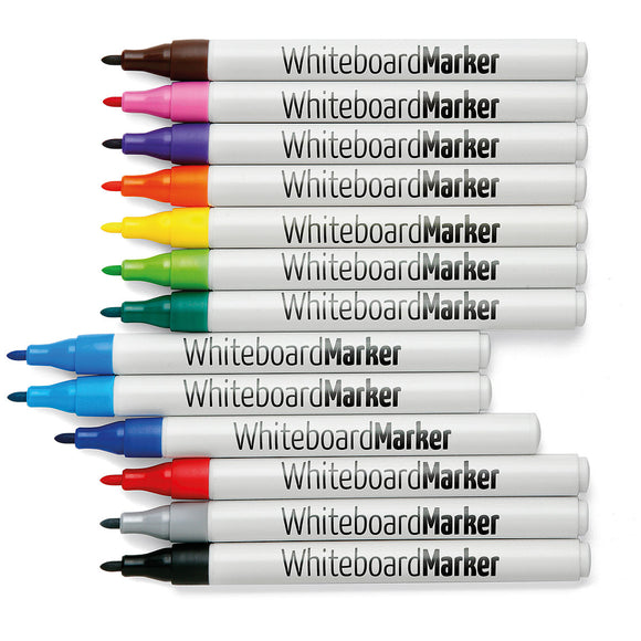 WhiteboardMarker, round nib, 1 mm, 13 Colour Set WK