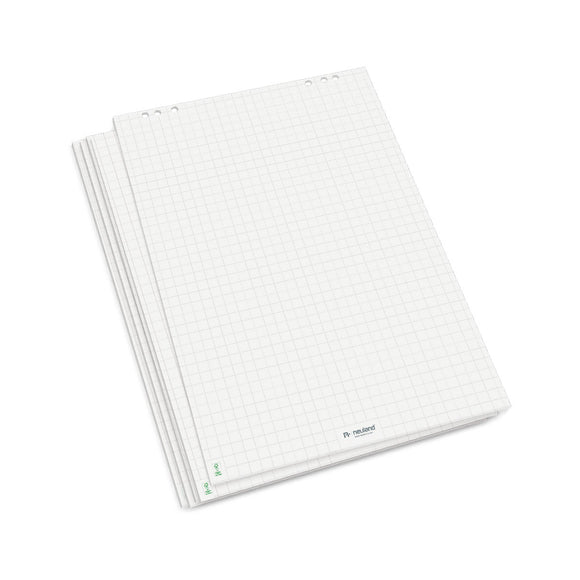 FlipChart Paper bright white, chequered