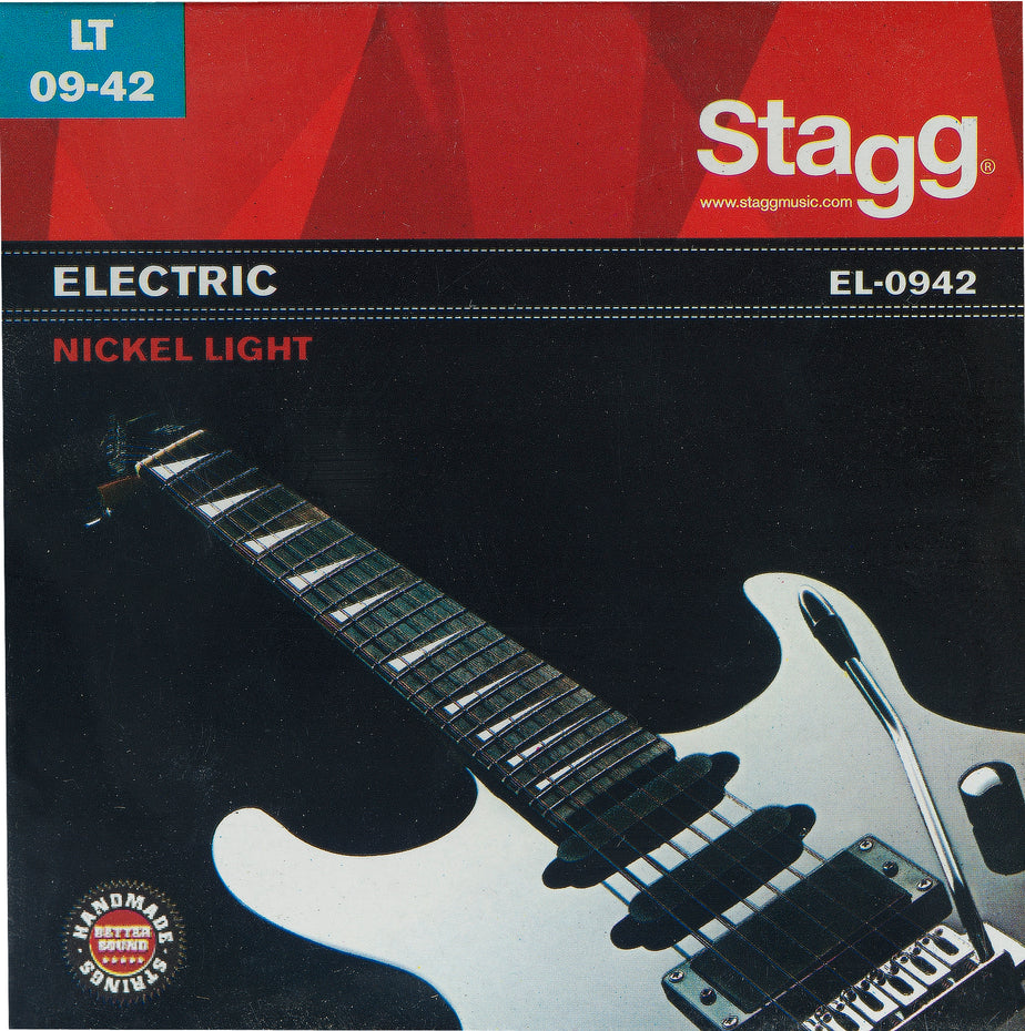EL0942 - Stagg entry level electric guitar strings Light