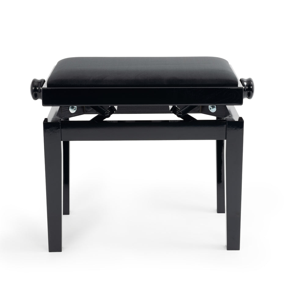 125E-BG-BK - CGM 125E height adjustable piano stool Black Gloss