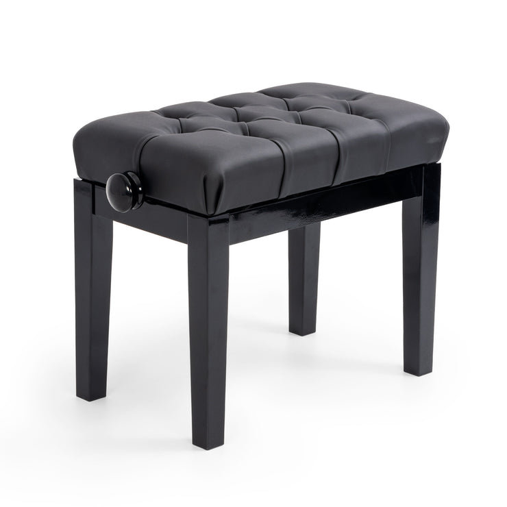 125T - CGM 125T concert piano stool - polished black with simulated leather Default title