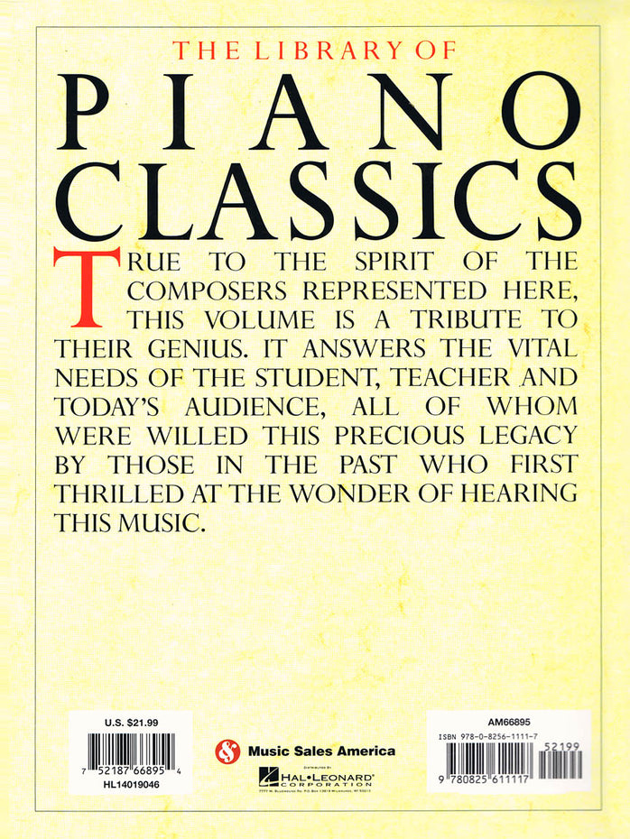 AM66895 - The Library of Piano Classics Default title