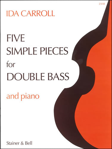 SB-2310 - Carroll Five Simple Pieces Double Bass & Piano Default title