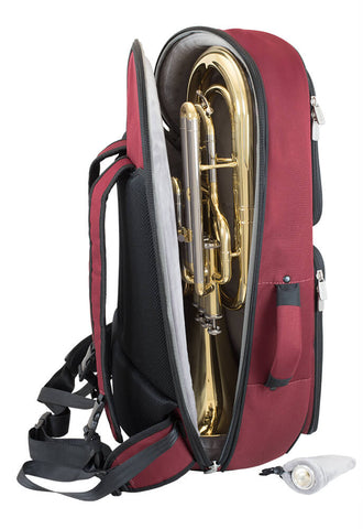 26BH-359 - Tom & Will baritone horn gig bag Burgundy with grey interior
