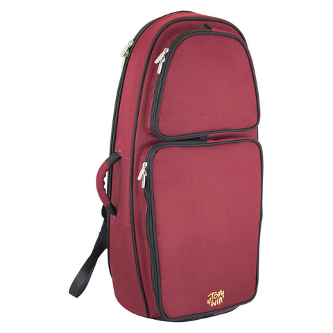 26EU-359 - Tom & Will euphonium gig bag Burgundy with grey interior