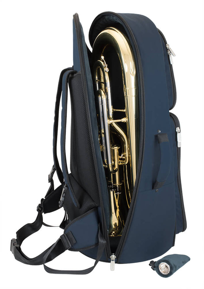 26EU-387 - Tom & Will euphonium gig bag Blue with blue interior