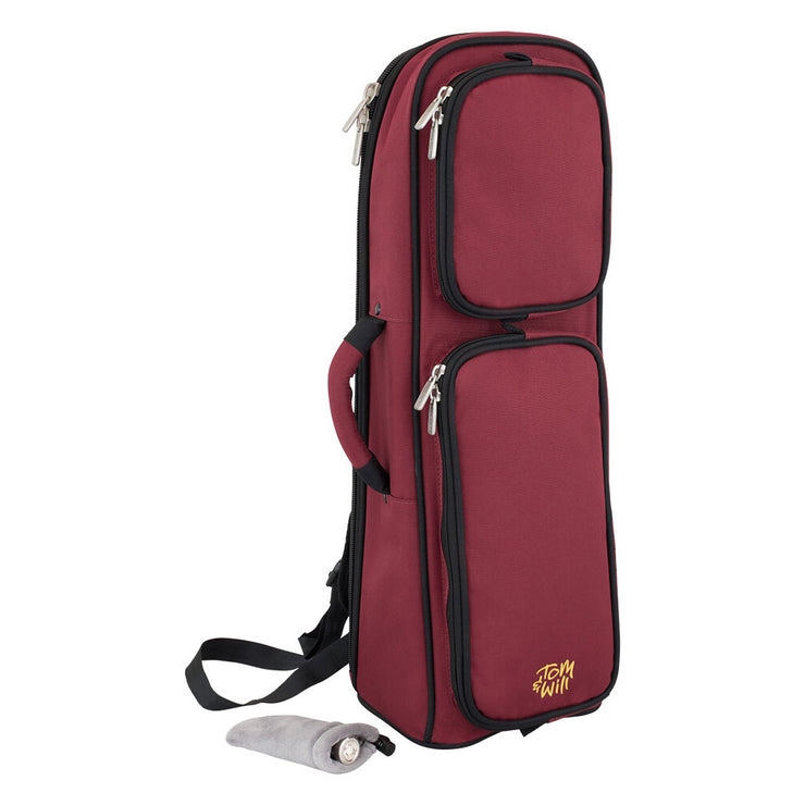 26TP-359 - Tom & Will trumpet gig bag Burgundy w/ grey interior