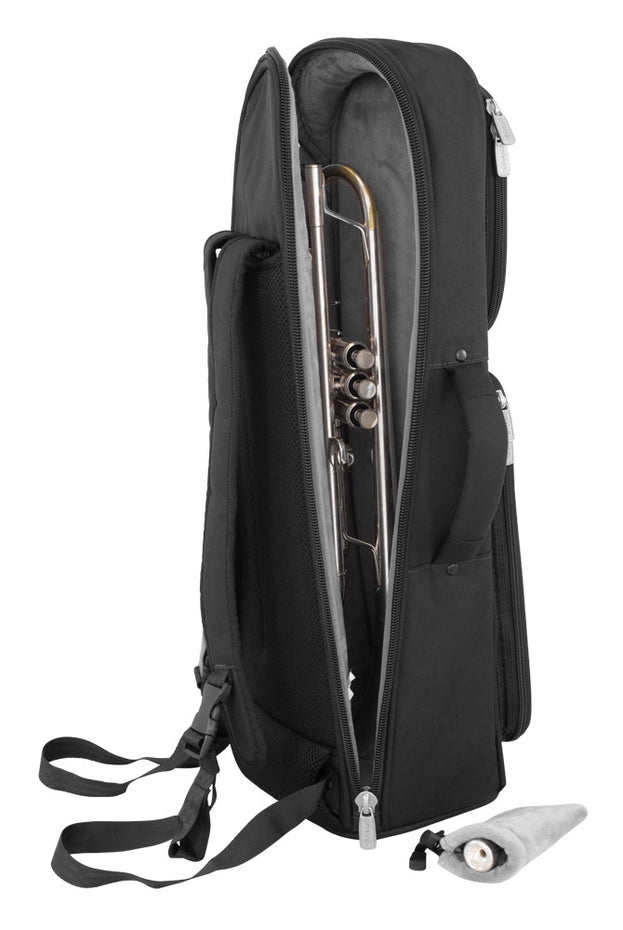 26TP-600 - Tom & Will trumpet gig bag Black with grey interior