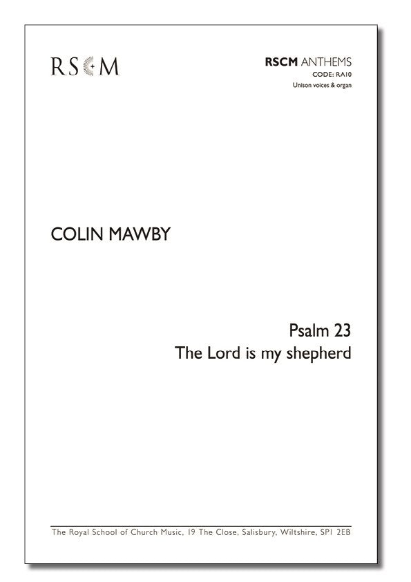 A0258 - Mawby: Psalm 23: The Lord is my shepherd (unison) Default title