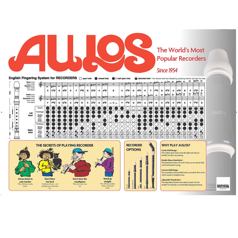 3221N - Aulos fingering chart for descant recorder Default title