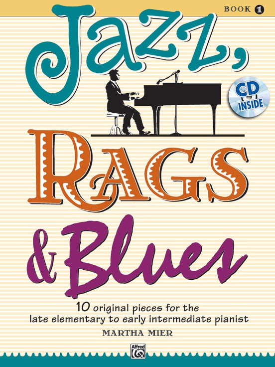 ALF36721 - Jazz Rags & Blues 1  (Piano with CD) Default title