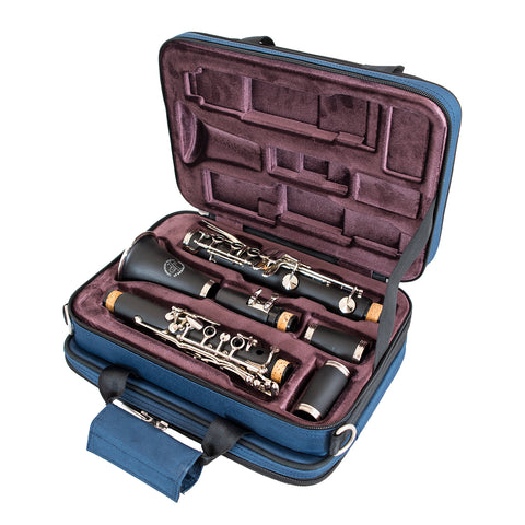 36CL-387 - Tom & Will clarinet gig bag Blue with purple interior