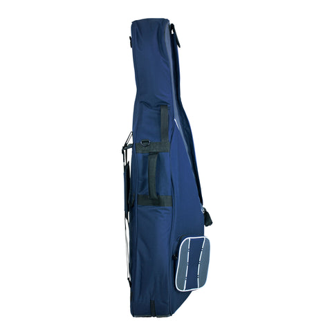 41VC12-215 - Tom & Will Classic 1/2 size cello gig bag Navy with grey trim