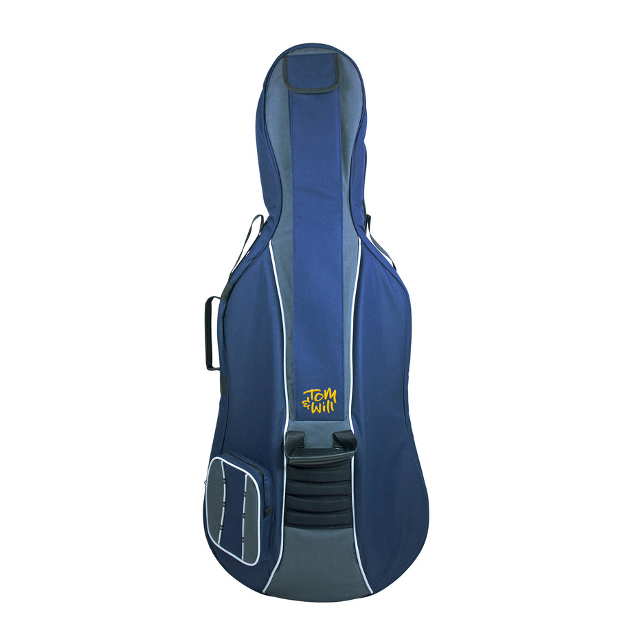 41VC12-215 - Tom & Will Classic cello gig bag 1/2 size, navy with grey trim