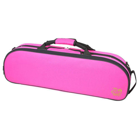 44VL44-630 - Tom & Will oval violin gig bag Hot pink with blue interior