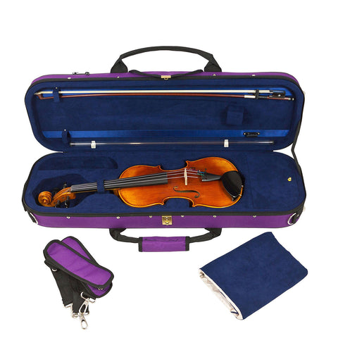 43VL34-610 - Tom & Will Classic 3/4 size violin gig bag Deep purple