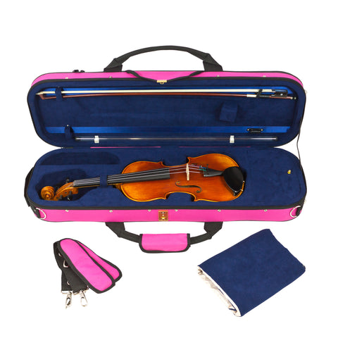 43VL34-630 - Tom & Will Classic 3/4 size violin gig bag Hot pink