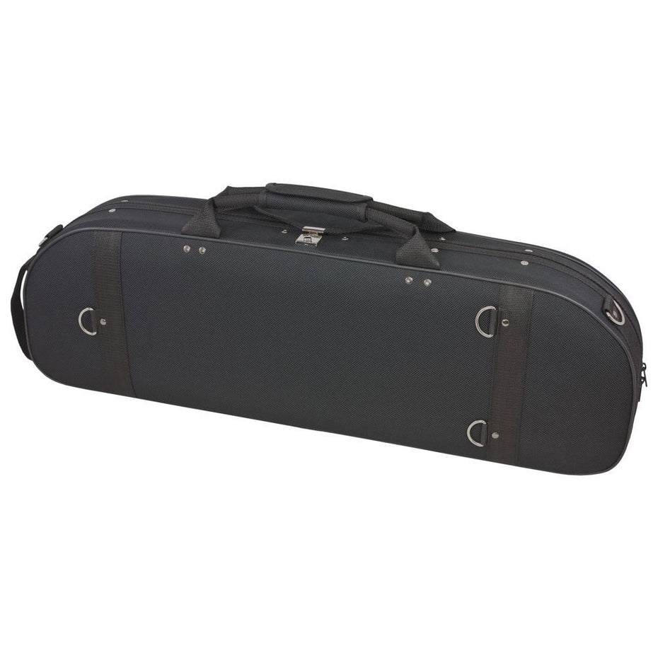 44VL44-600 - Tom & Will oval violin gig bag Black with blue interior