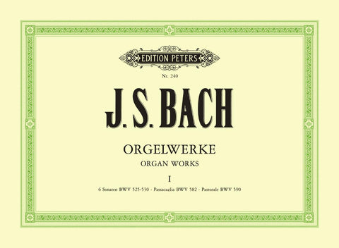 P240 - Bach Complete Organ Works in 9 volumes, Vol.1 Default title