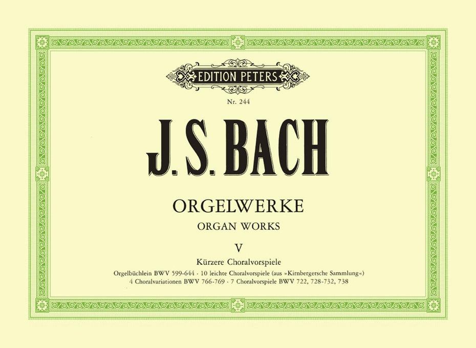 P244 - Bach Complete Organ Works in 9 volumes, Vol.5 Default title