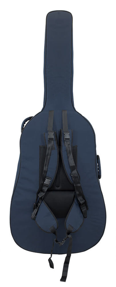 46BS34-387 - Tom & Will double bass gig bag Blue with blue interior