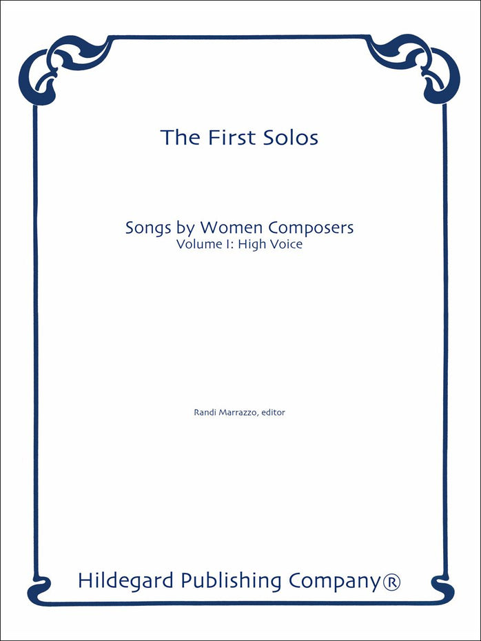 PRL49100510 - First Solos: Vocal Music by Women, Vol 1 (High) Default title