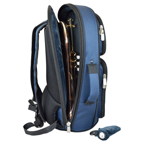 26FGH-387 - Tom & Will flugel horn gig bag Blue with blue interior