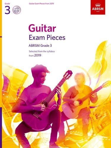 AB-86012234 - ABRSM Guitar Exam Pieces Grade 3 Book & CD from 2019 Default title