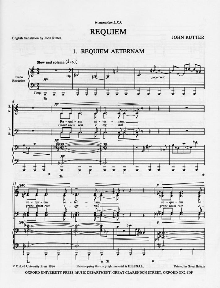 OUP-3380707 - Requiem: Vocal score Default title