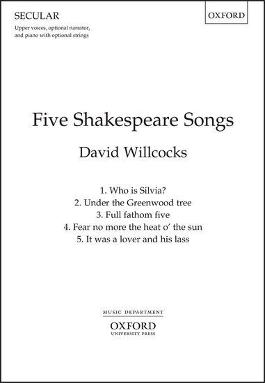 OUP-3411920 - Five Shakespeare Songs: Vocal Score Default title