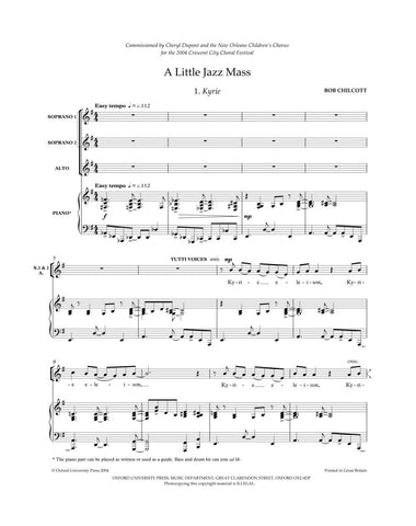 OUP-3433281 - A Little Jazz Mass: SSA vocal score Default title