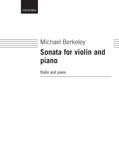 OUP-3554832 - Sonata for violin and piano Default title