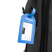 99LL-645 - Tom & Will 100% real leather luggage tags Oxford blue