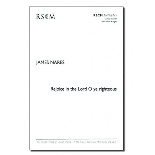 A0261 - Nares Rejoice in the Lord O ye righteous Default title