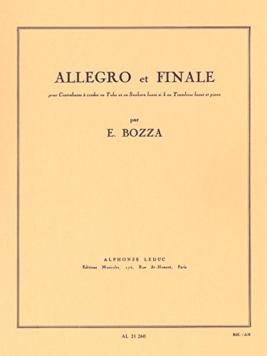 AL21260 - Eugene Bozza - Allegro and Finale, for double bass or low brass Default title