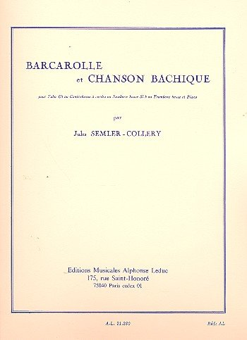AL21280 - Jules Semler-Collery: Barcarolle and Bacchanalian Song Default title