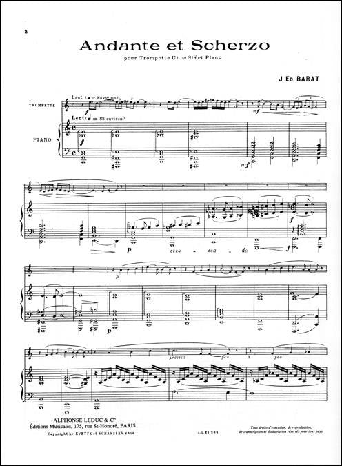 AL21324 - Andante et Scherzo for Trumpet and Piano Default title