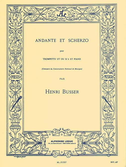 AL21327 - Henri Busser: Andante and Scherzo, Op. 44 (Trumpet and Piano) Default title