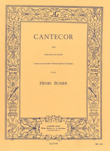 AL23101 - Henri Busser: Cantecor For Horn And Piano Default title