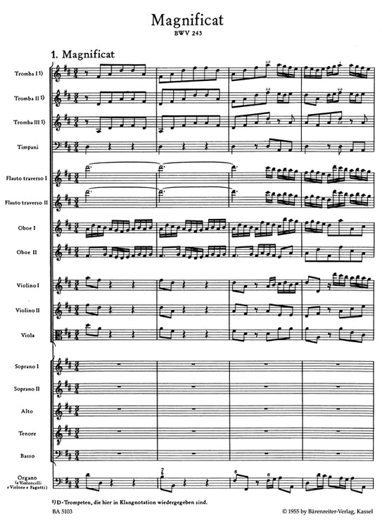 BA5103 - Magnificat In D (BWV 243) Full Score Default title