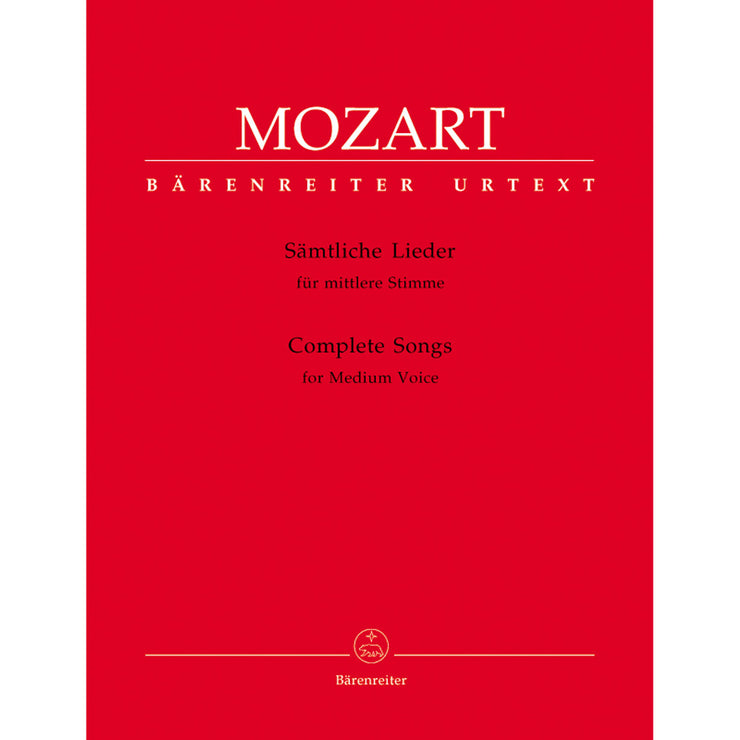 BA5328 - Mozart songs for medium voice, Complete Default title