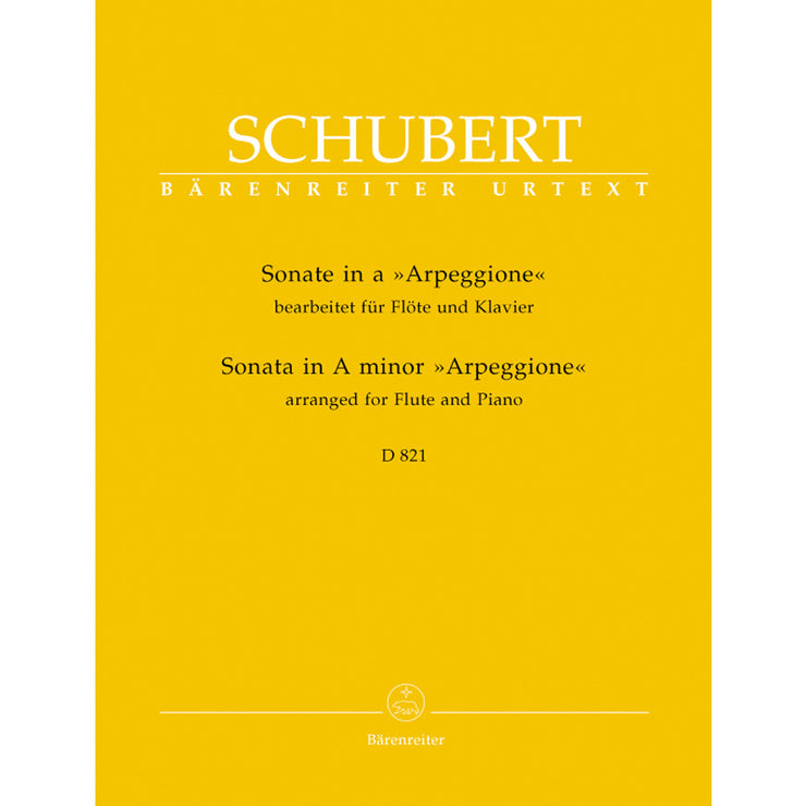 BA5681 - Schubert Sonata for Arpeggione (Flute) In A Minor (D.821) Default title