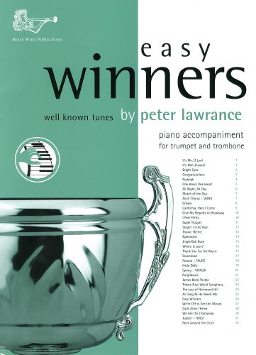 BW0124PA - Easy Winners Trumpet / Trombone / Euphonium Piano Accompaniment Default title