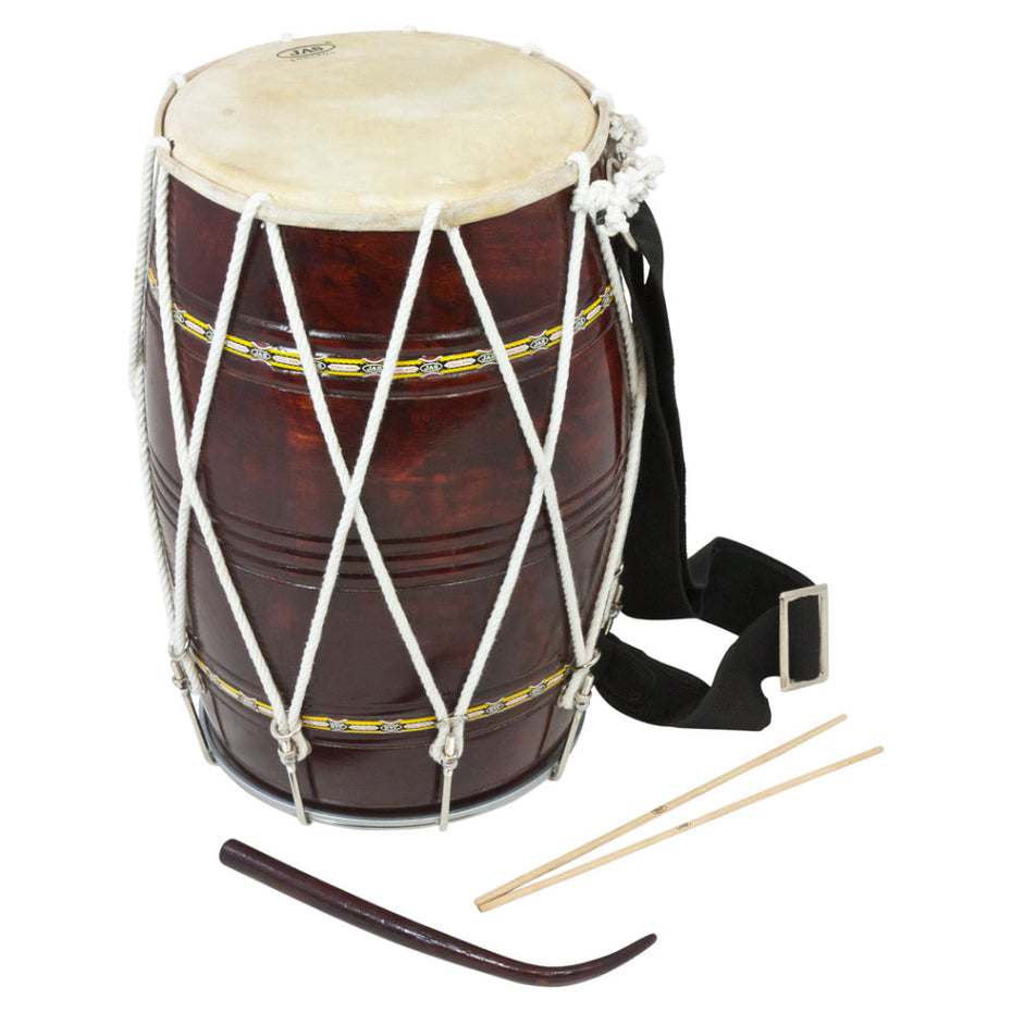D144 - Traditional full size wooden Bhangra dhol Default title