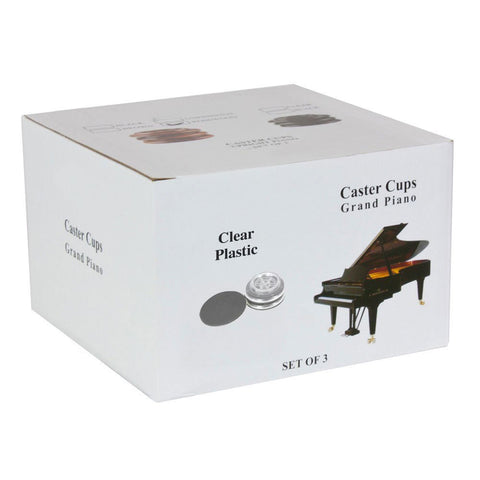 DE-MM11 - Piano Workshop set of 3 clear plastic castor cups for grand piano Default title