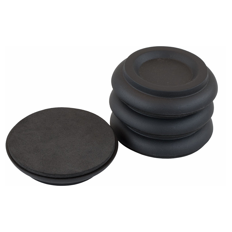 DE-MM12 - Piano Workshop set of 4 black wooden castor cups for upright piano Default title